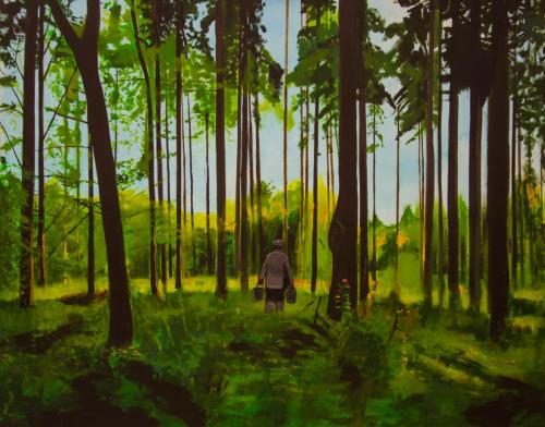 Painter across the Forest. José Pozo 2013